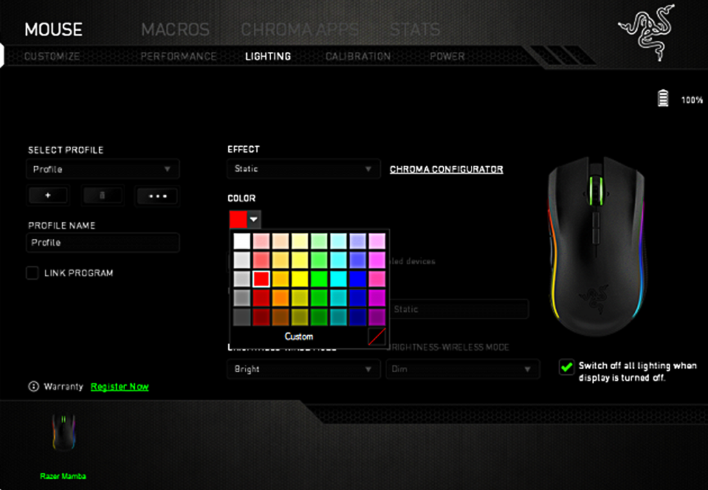 Razer Synapse Chroma Lighting